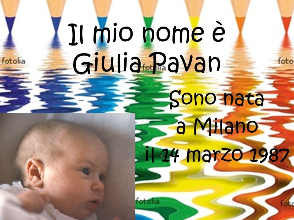 Il mio nome è Giulia Pavan