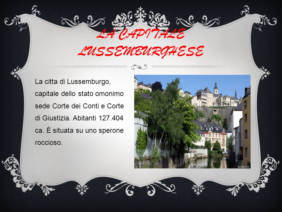 LA CAPITALE LUSSEMBURGHESE