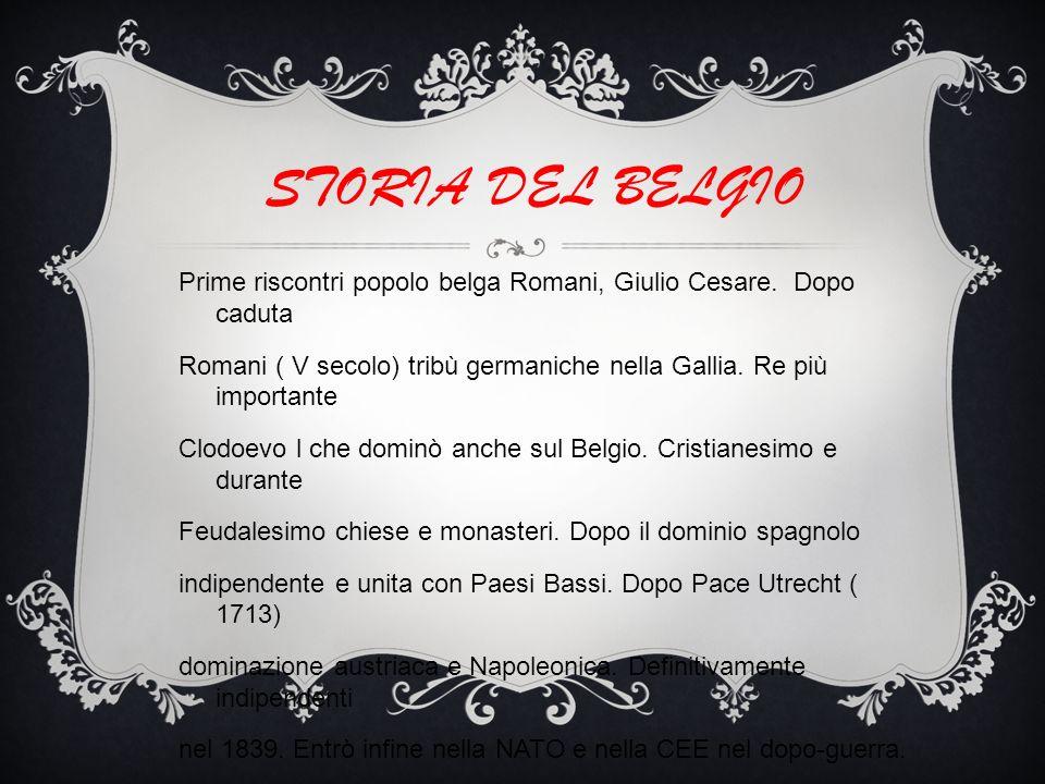 STORIA DEL BELGIO Prime riscontri popolo belga Romani, Giulio Cesare. Dopo caduta.