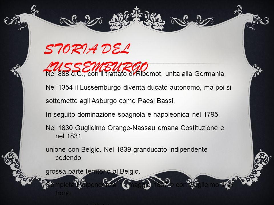 STORIA DEL LUSSEMBURGO