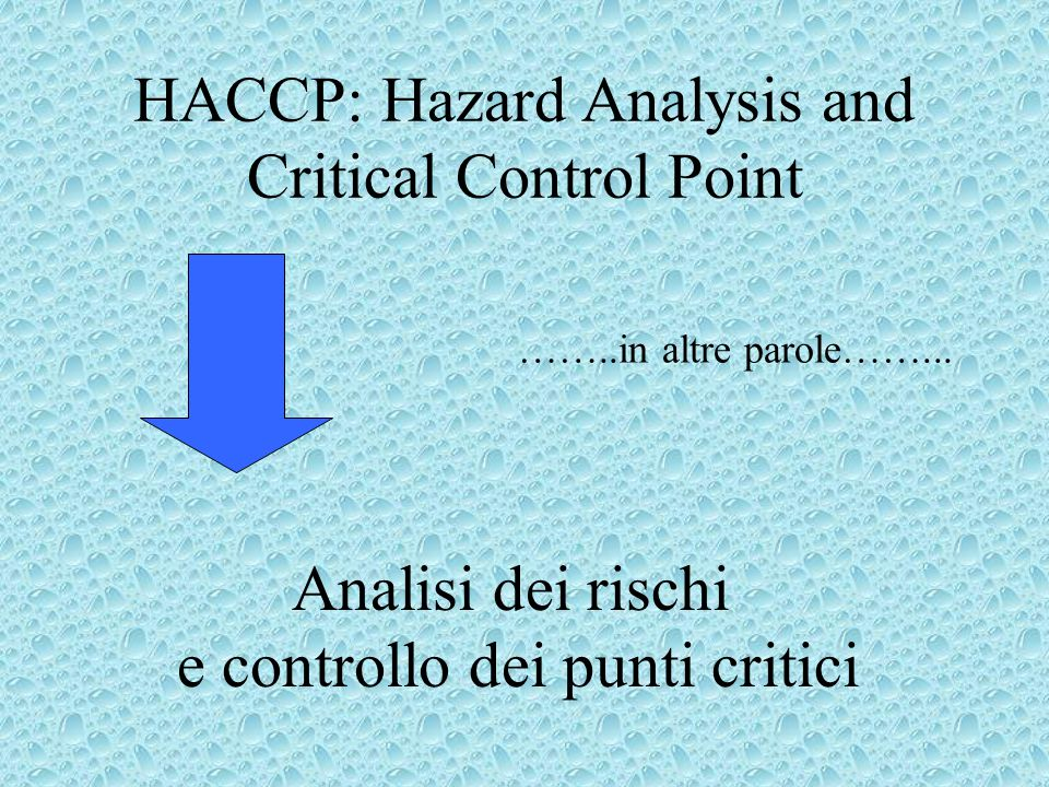 HACCP: Hazard Analysis and Critical Control Point