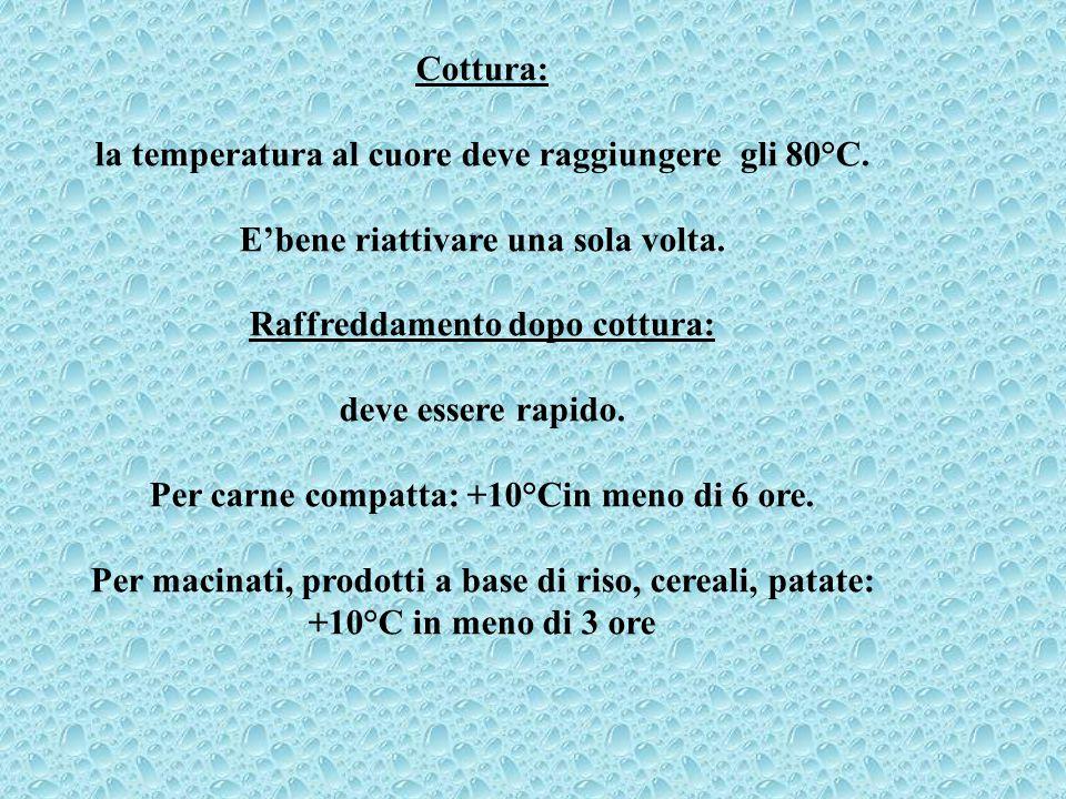 la temperatura al cuore deve raggiungere gli 80°C.
