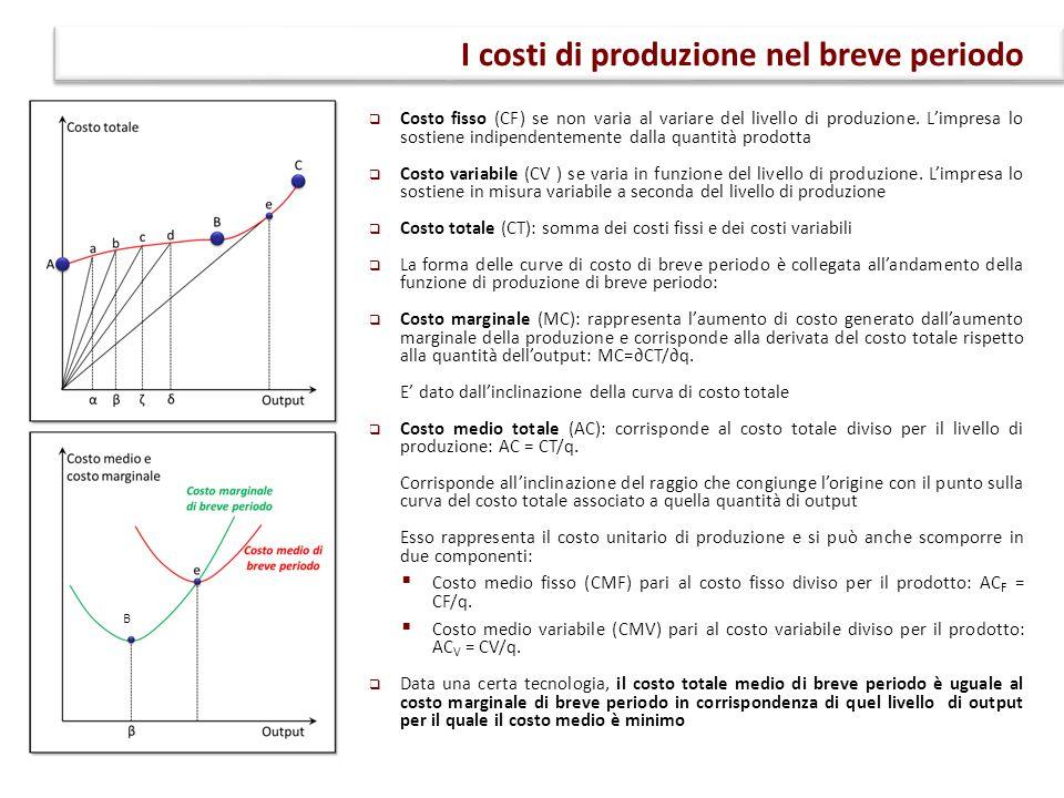 I costi di produzione nel breve periodo