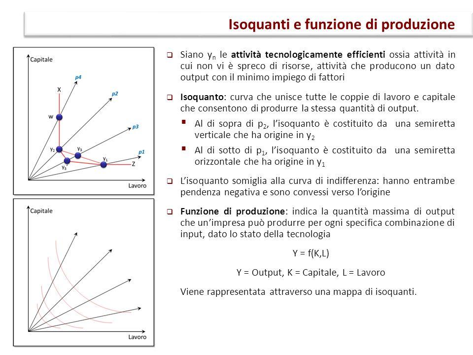 Isoquanti e funzione di produzione