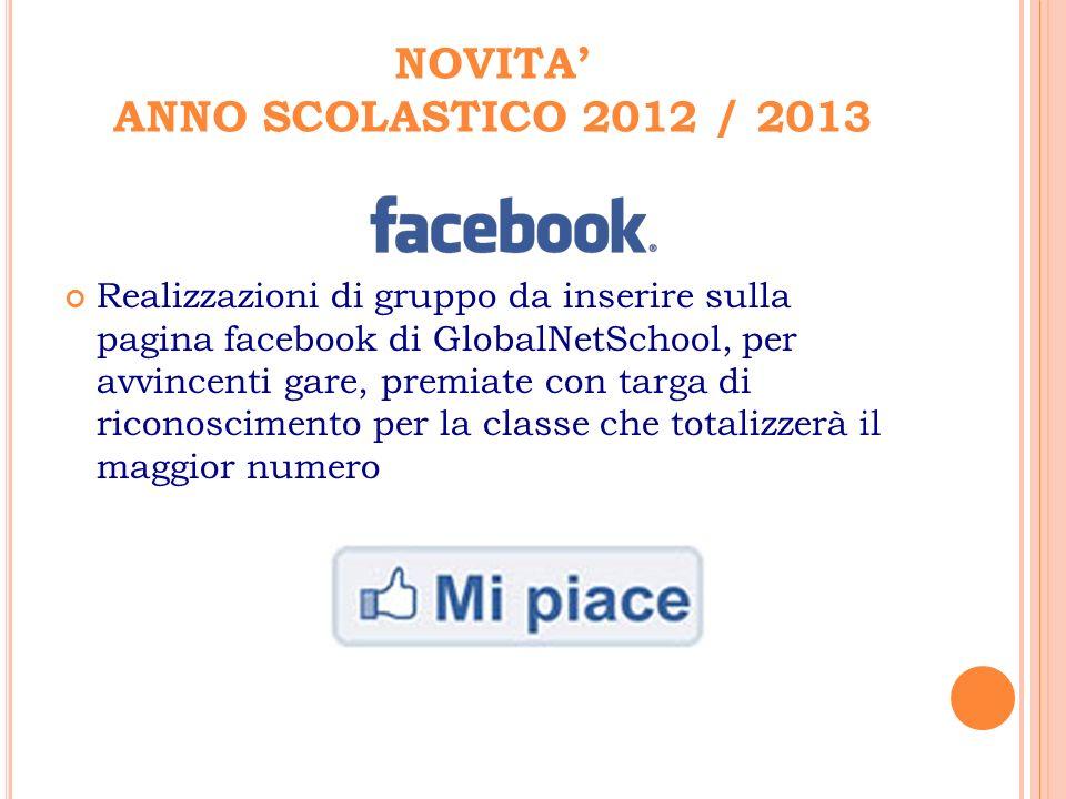 NOVITA' ANNO SCOLASTICO 2012 / 2013