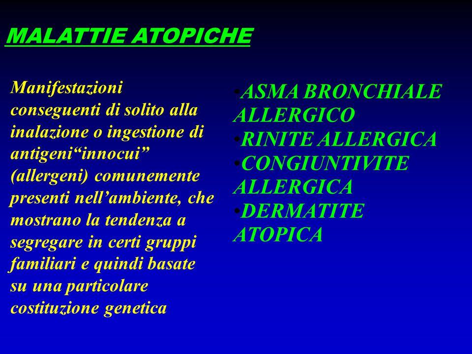 ASMA BRONCHIALE ALLERGICO RINITE ALLERGICA CONGIUNTIVITE ALLERGICA