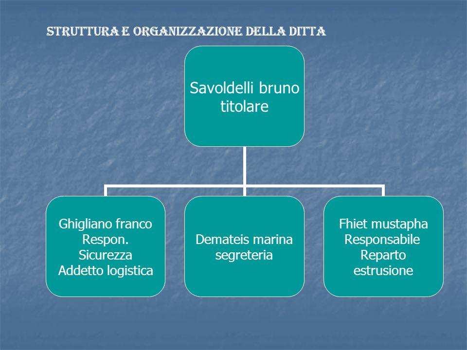 Struttura e organizzazione della ditta