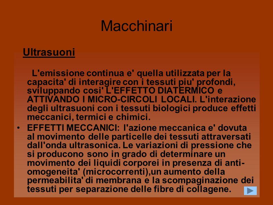Macchinari Ultrasuoni.
