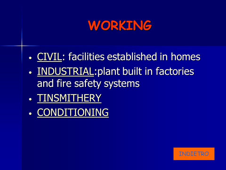 WORKING CIVIL: facilities established in homes