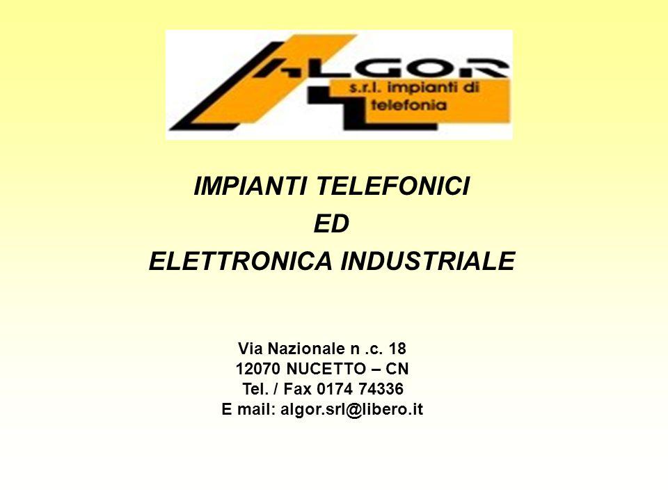 IMPIANTI TELEFONICI ED ELETTRONICA INDUSTRIALE