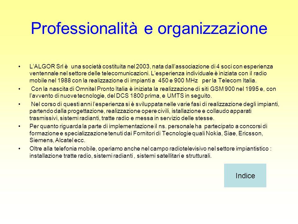 Professionalità e organizzazione