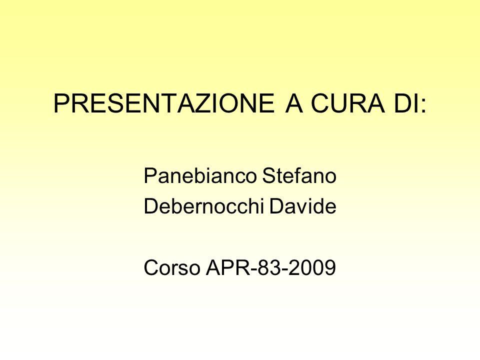 PRESENTAZIONE A CURA DI: