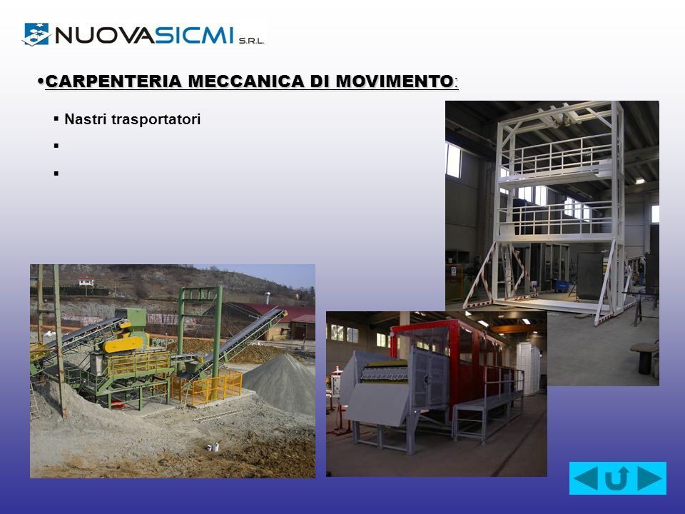 CARPENTERIA MECCANICA DI MOVIMENTO: