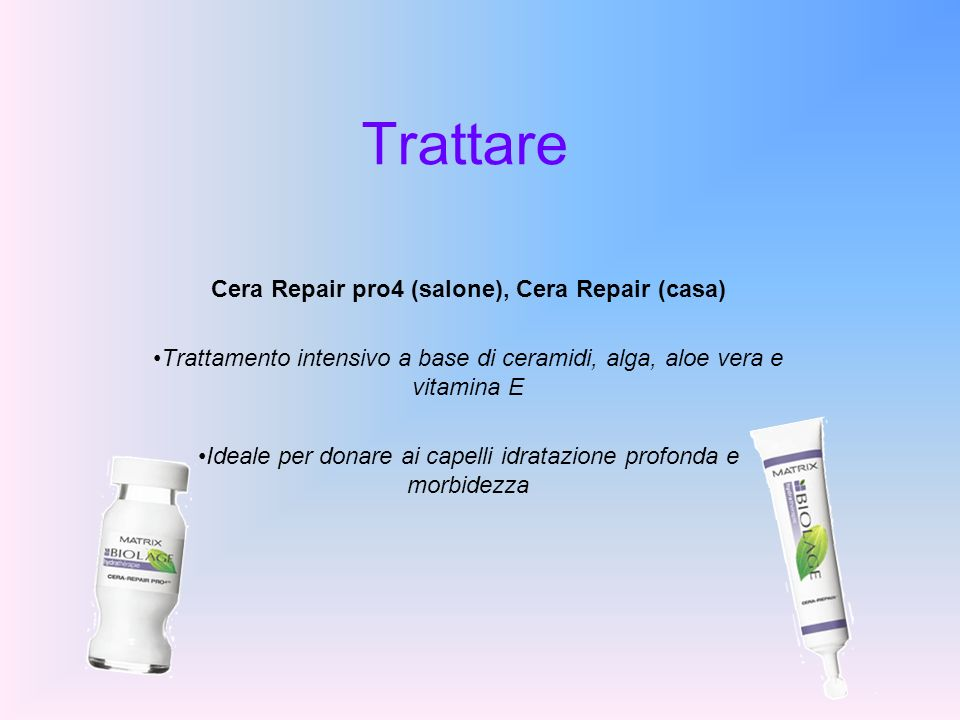 Cera Repair pro4 (salone), Cera Repair (casa)
