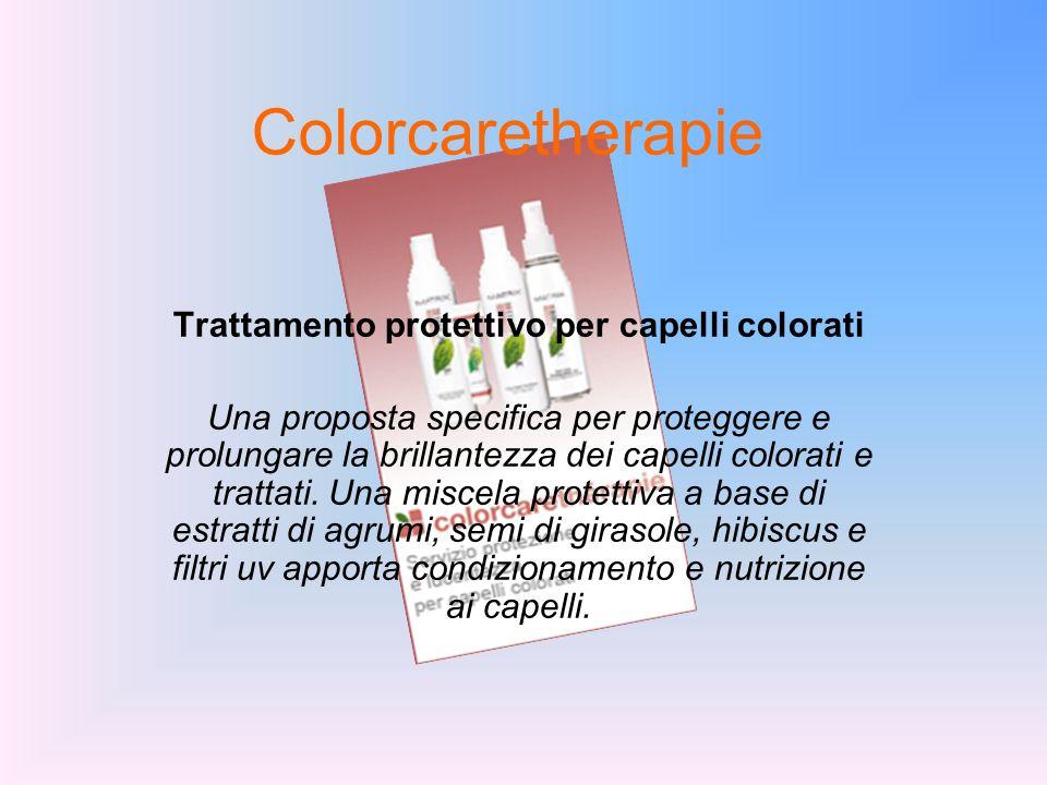 Trattamento protettivo per capelli colorati