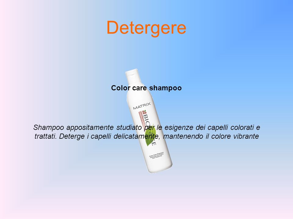 Detergere Color care shampoo