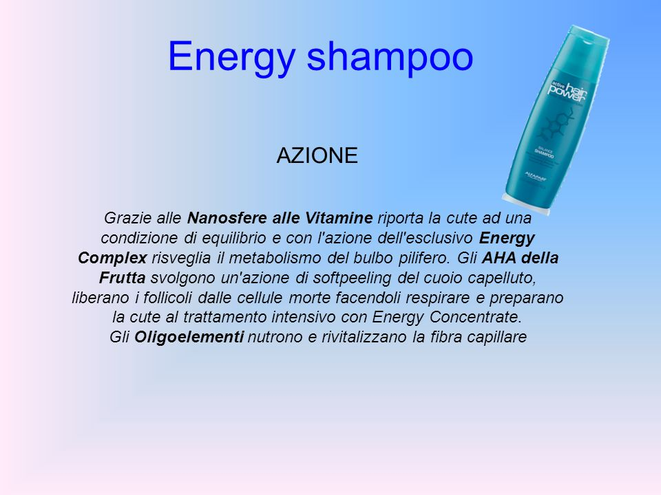 Energy shampoo AZIONE.