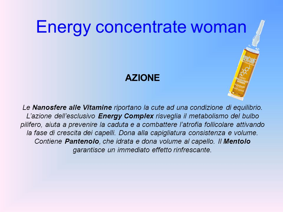 Energy concentrate woman