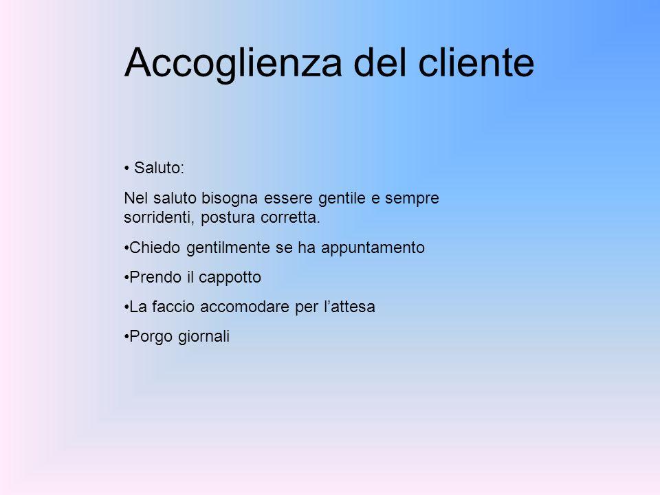 Accoglienza del cliente
