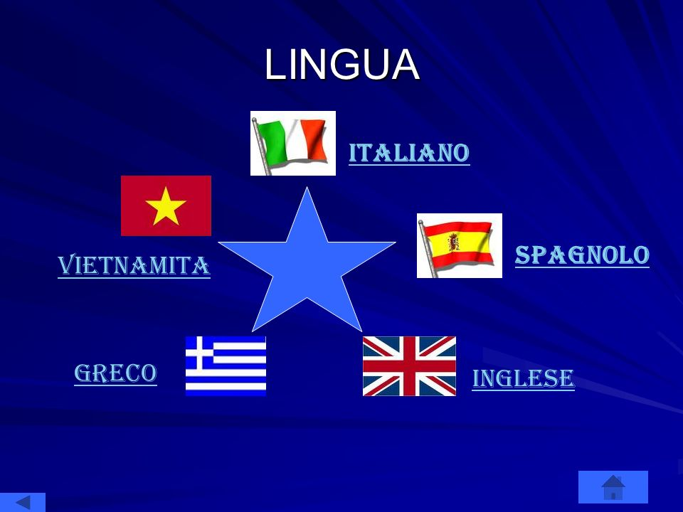 LINGUA italiano Spagnolo vietnamita GRECO INGLESE