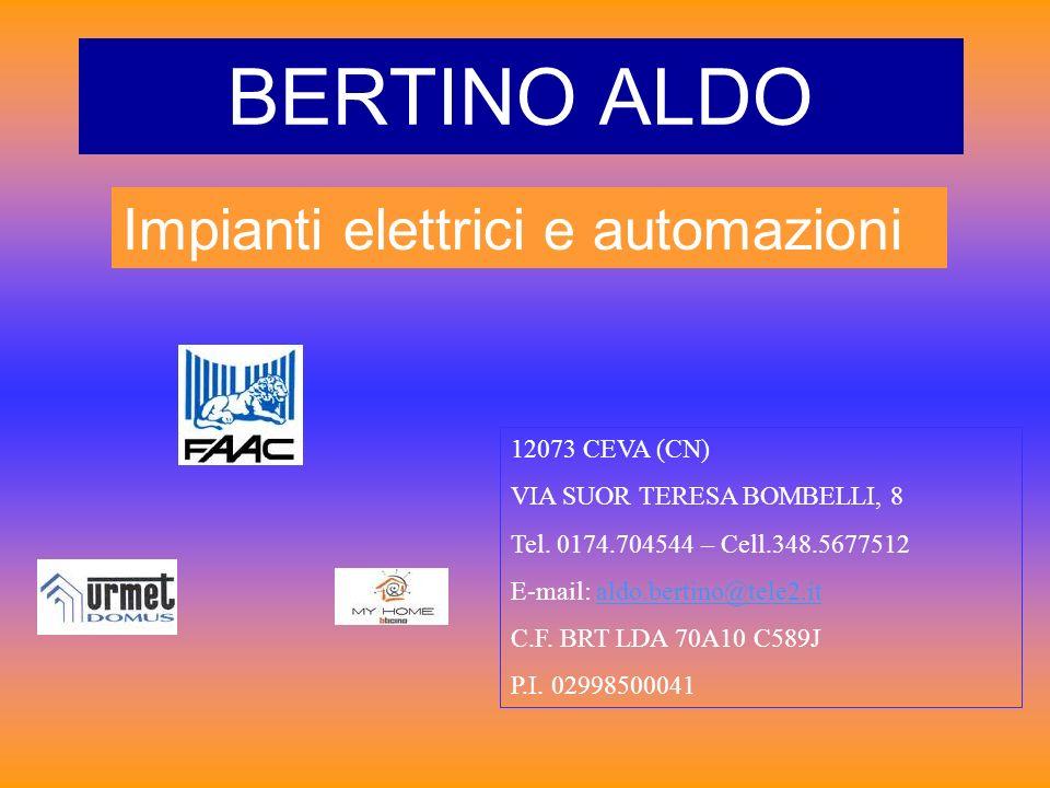 BERTINO ALDO Impianti elettrici e automazioni 12073 CEVA (CN)