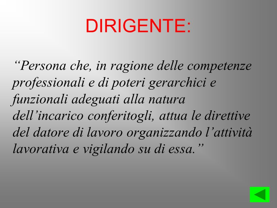 DIRIGENTE: