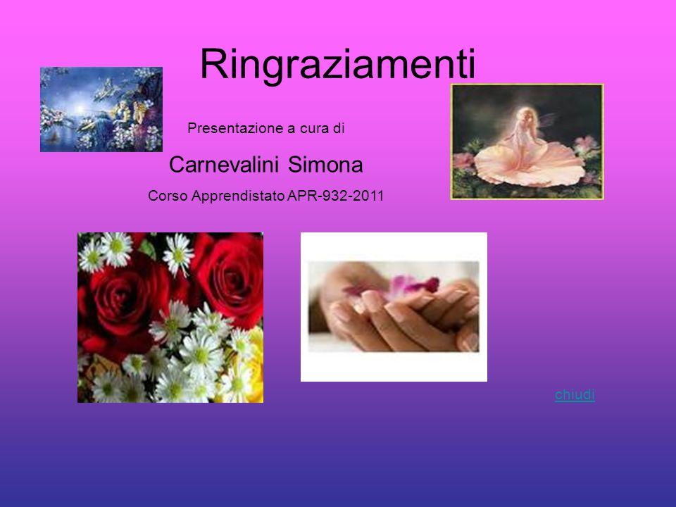 Ringraziamenti Carnevalini Simona Presentazione a cura di