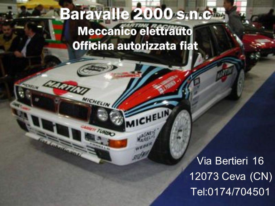 Baravalle 2000 s.n.c Meccanico elettrauto Officina autorizzata fiat