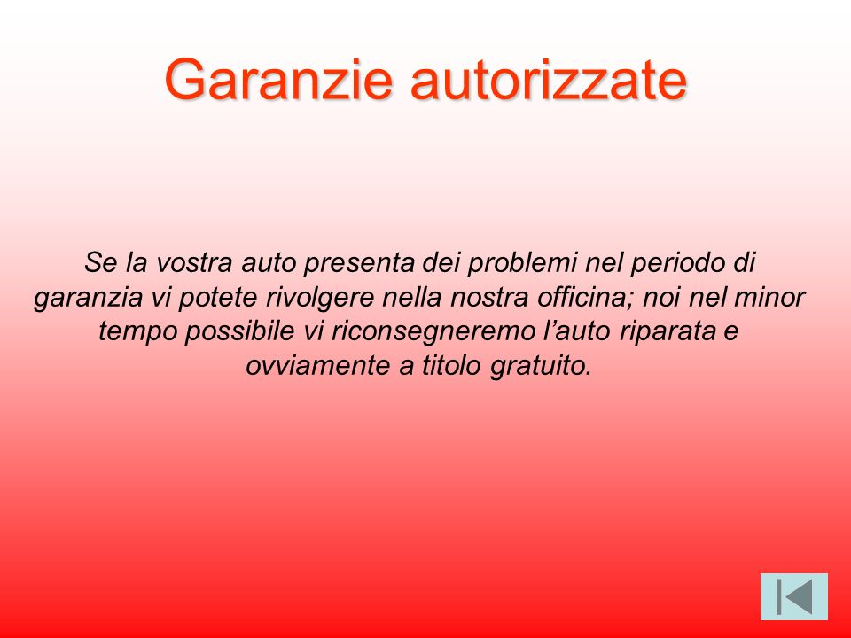 Garanzie autorizzate