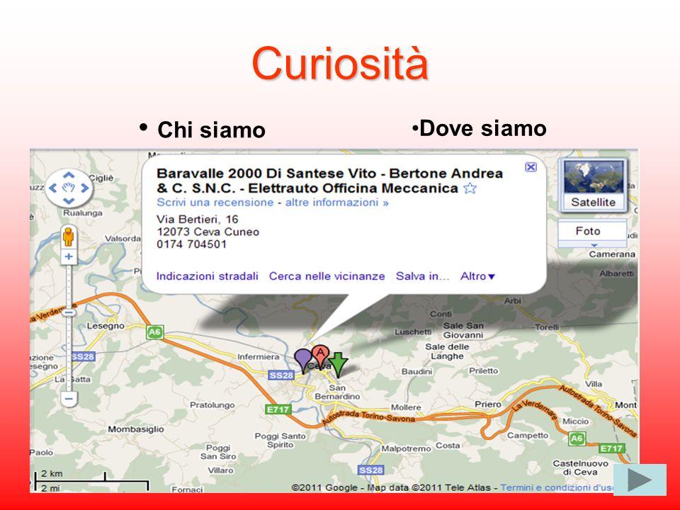 Curiosità Chi siamo Dove siamo