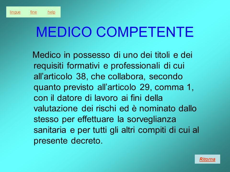 lingue fine. help. MEDICO COMPETENTE.