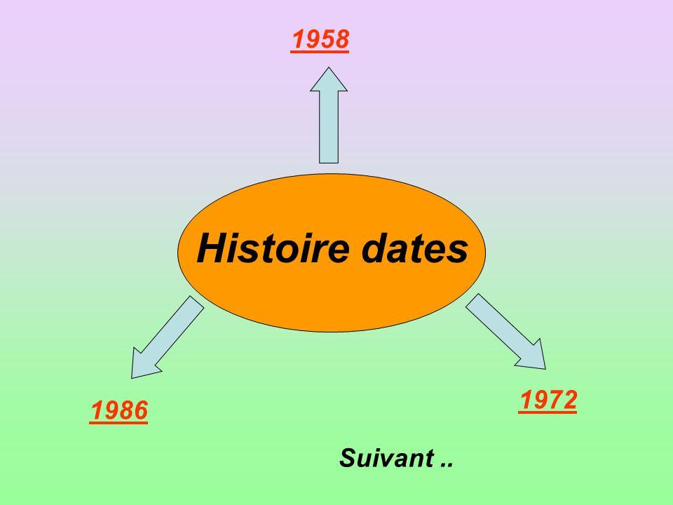 1958 Histoire dates 1972 1986 Suivant ..