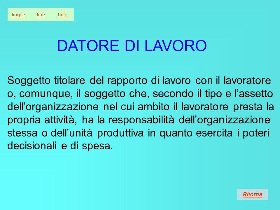 lingue fine. help. DATORE DI LAVORO.
