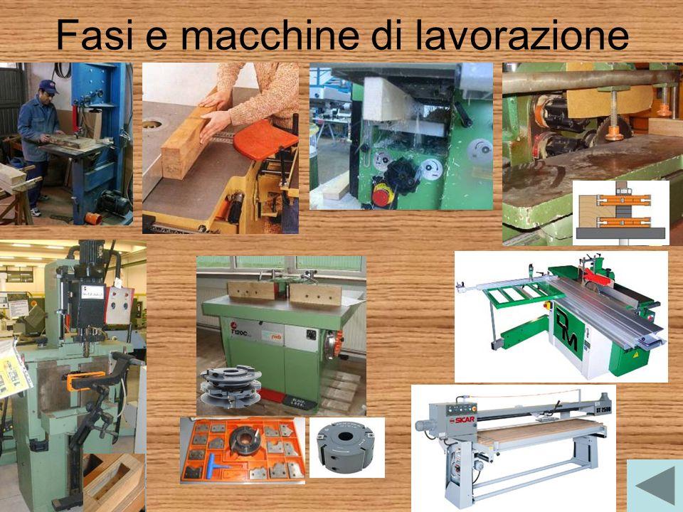 Fasi e macchine di lavorazione