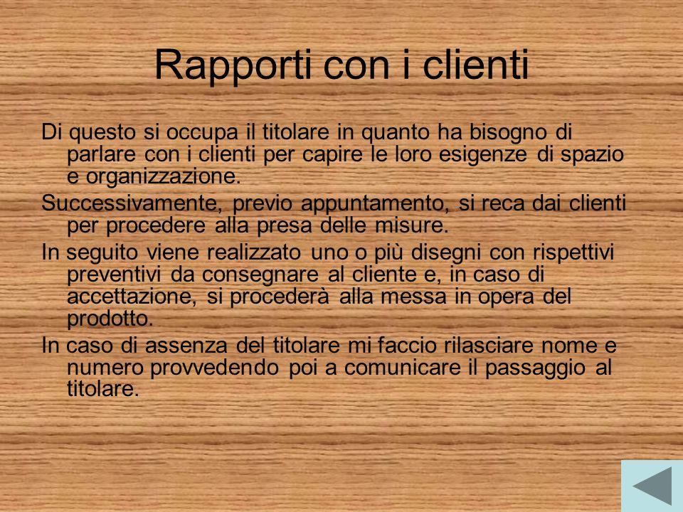 Rapporti con i clienti
