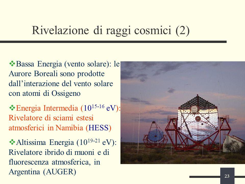 Rivelazione di raggi cosmici (2)