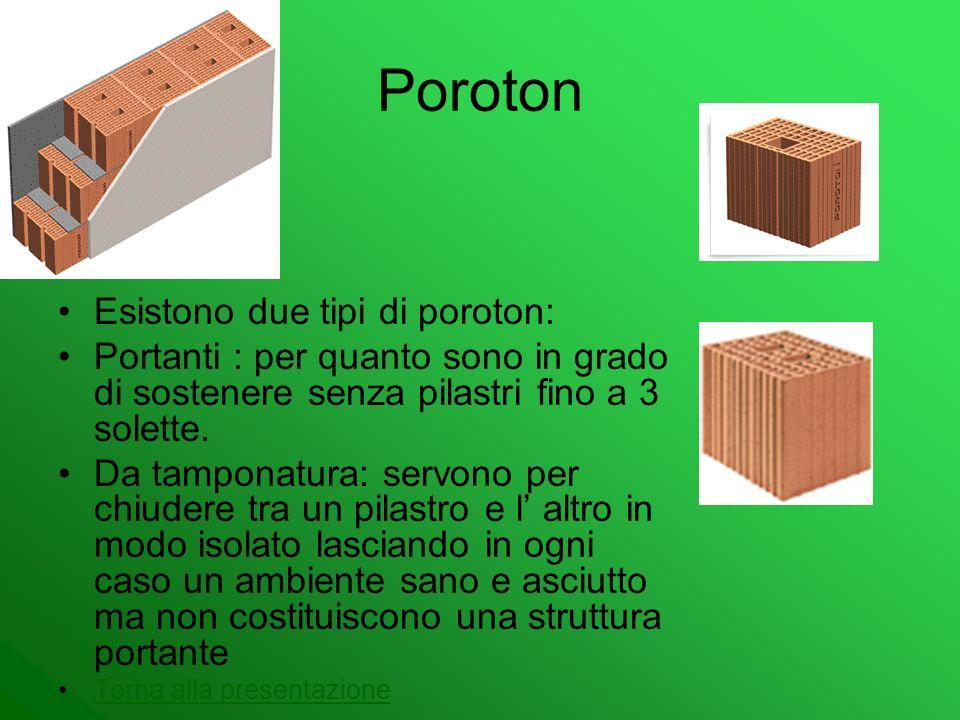 Poroton Esistono due tipi di poroton:
