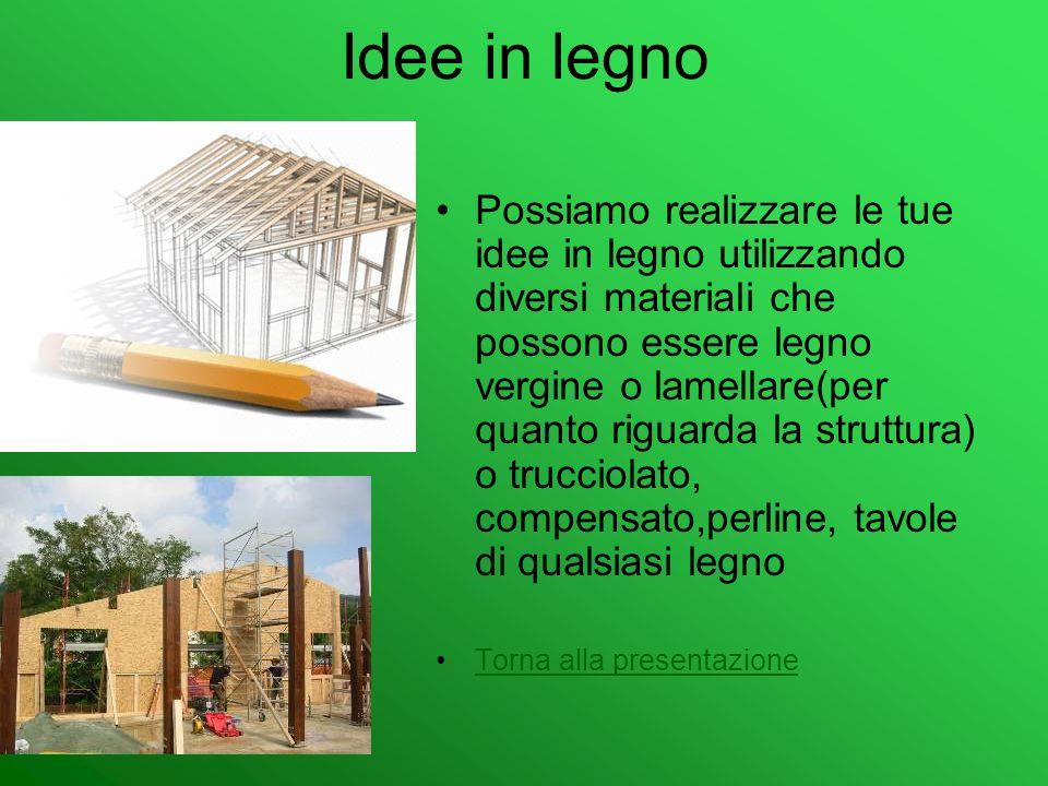 Idee in legno