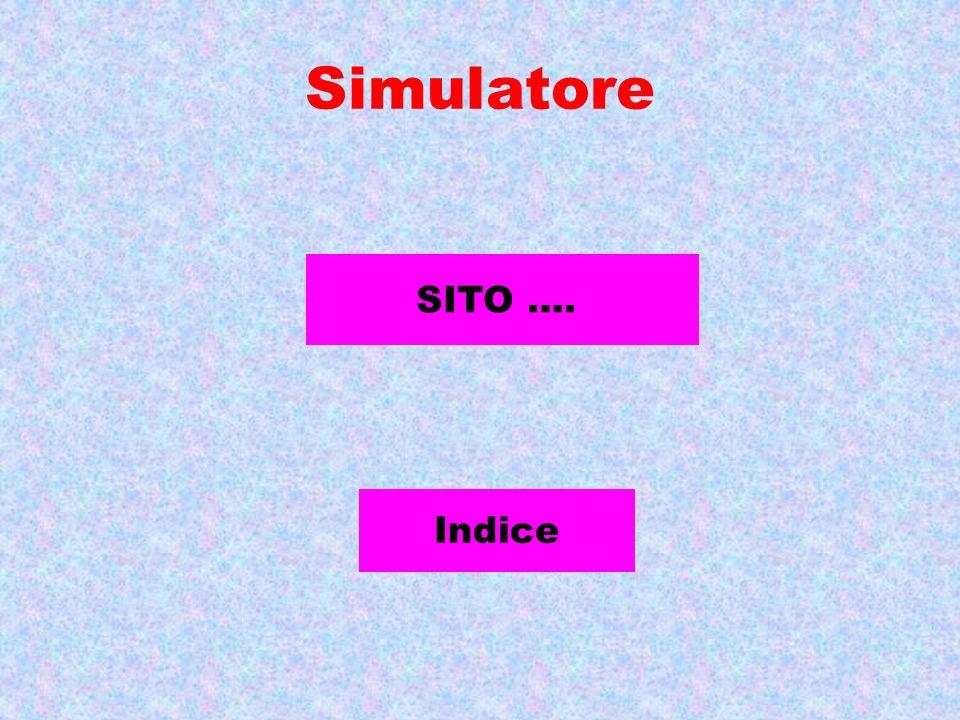 Simulatore SITO …. Indice