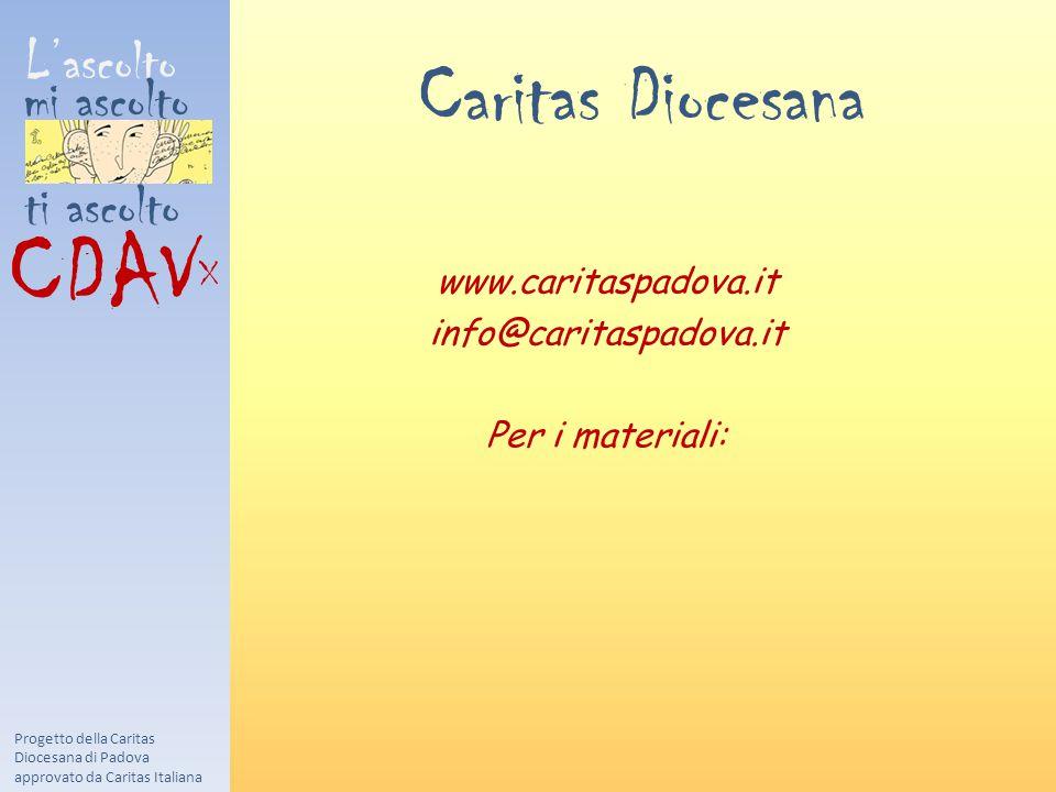 CDAVX Caritas Diocesana L'ascolto mi ascolto ti ascolto