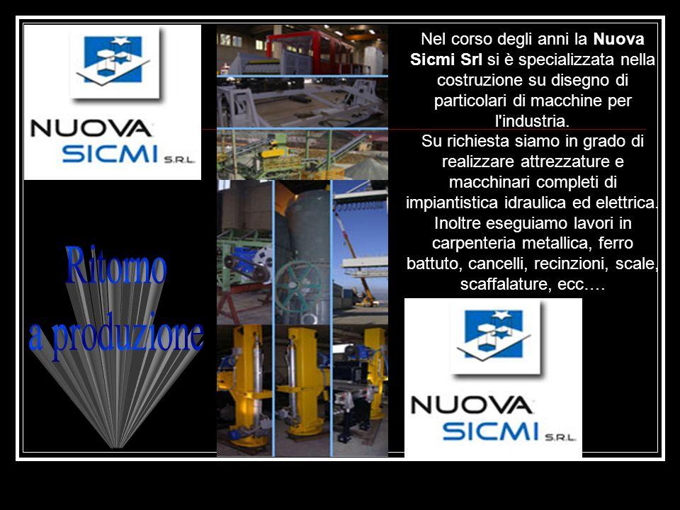 Nel corso degli anni la Nuova Sicmi Srl si è specializzata nella costruzione su disegno di particolari di macchine per l industria.