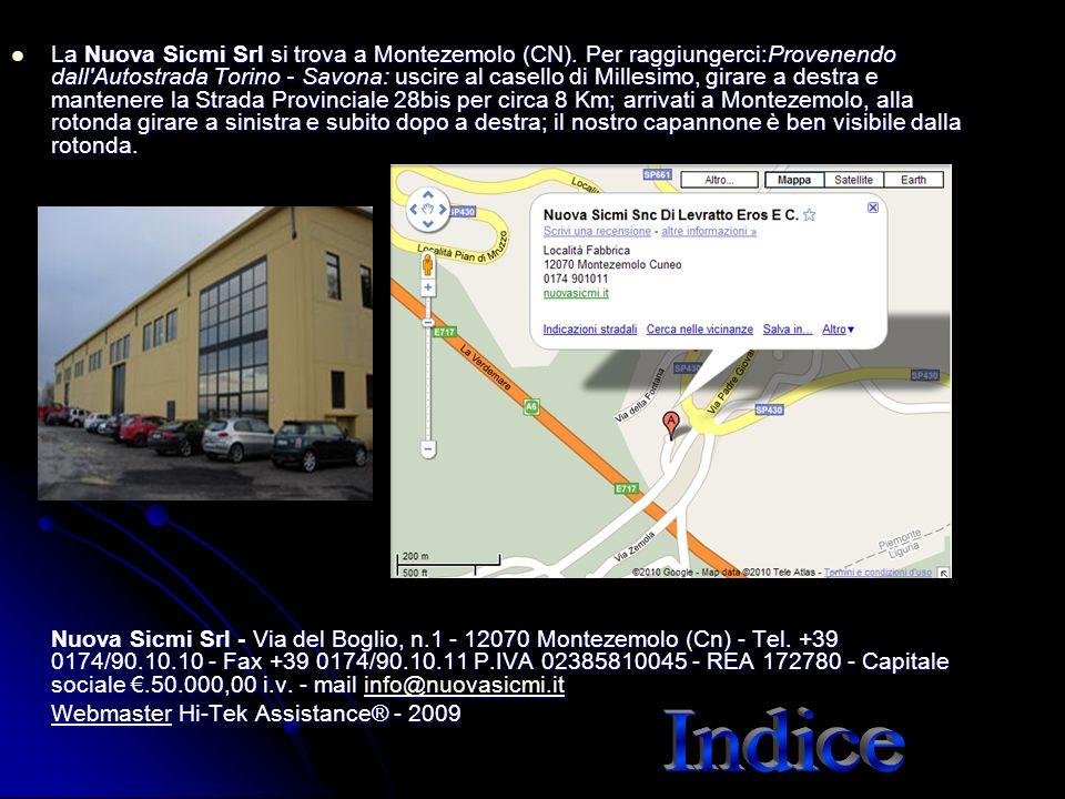 La Nuova Sicmi Srl si trova a Montezemolo (CN)