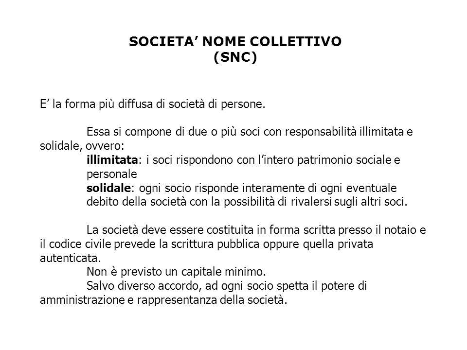 SOCIETA' NOME COLLETTIVO