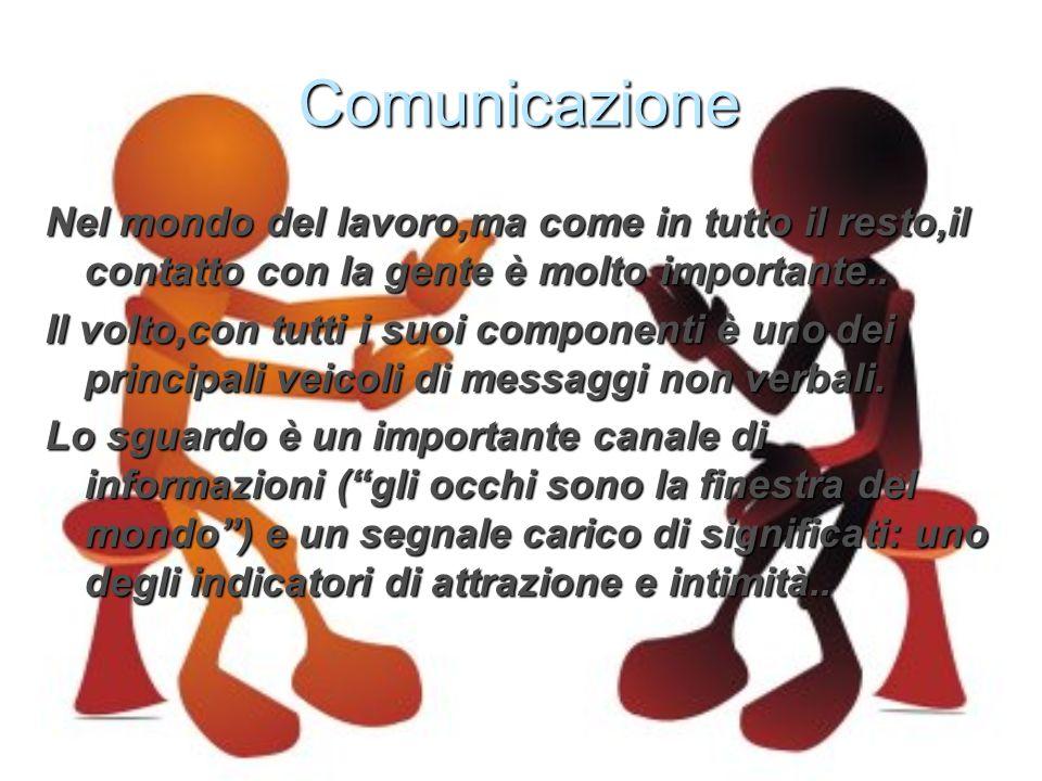 Comunicazione Nel mondo del lavoro,ma come in tutto il resto,il contatto con la gente è molto importante..