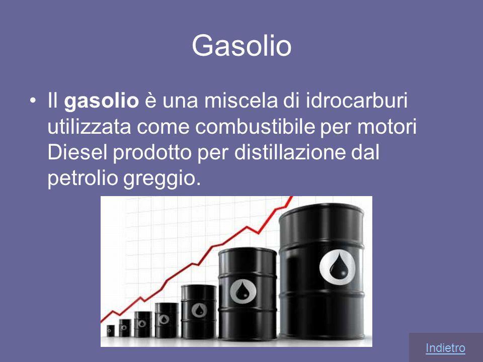 Gasolio Il gasolio è una miscela di idrocarburi utilizzata come combustibile per motori Diesel prodotto per distillazione dal petrolio greggio.