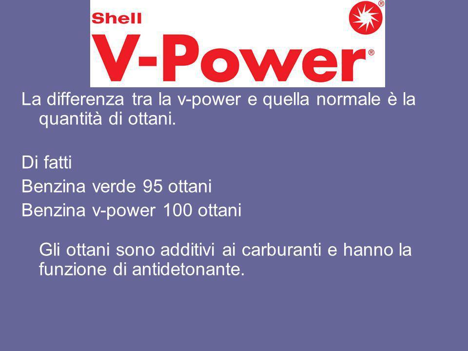 V-Power La differenza tra la v-power e quella normale è la quantità di ottani. Di fatti. Benzina verde 95 ottani.