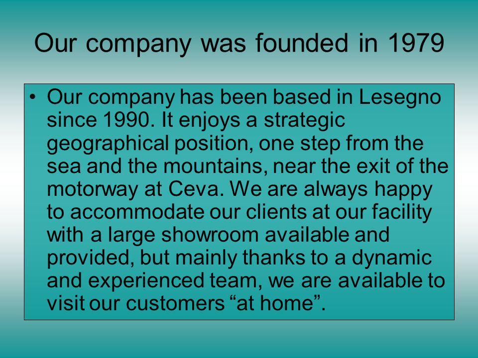 Our company was founded in 1979