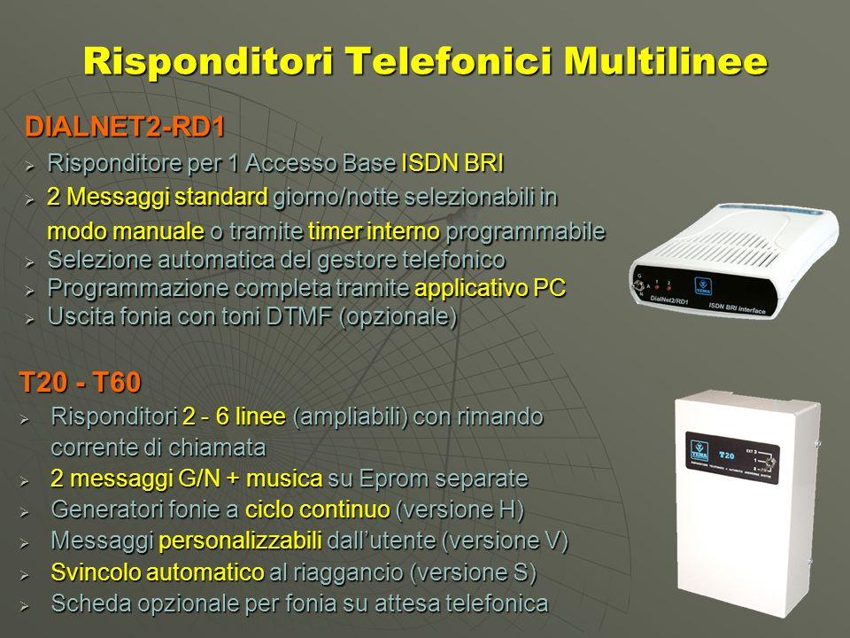 Risponditori Telefonici Multilinee