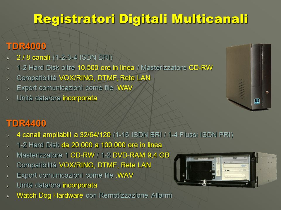 Registratori Digitali Multicanali
