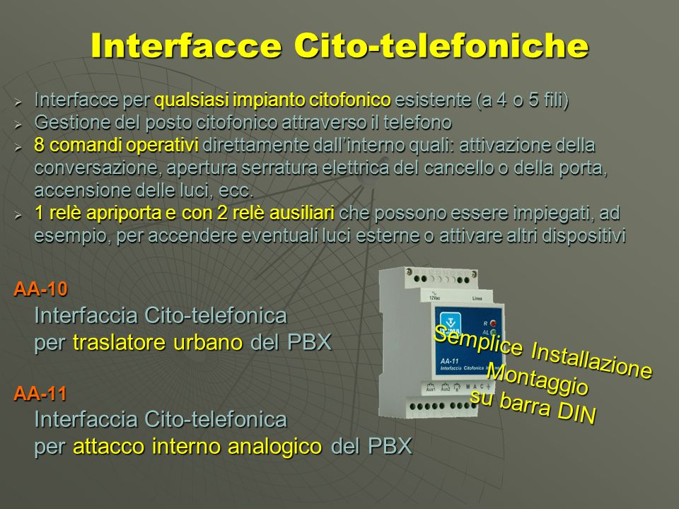 Interfacce Cito-telefoniche